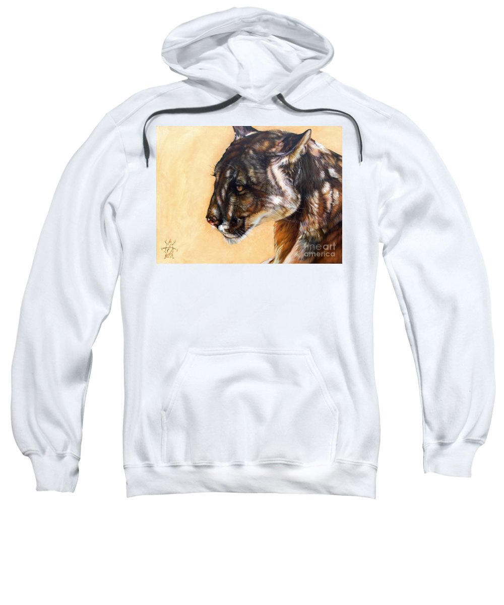 Catamount Sweatshirt featuring the painting Dappled by J W Baker