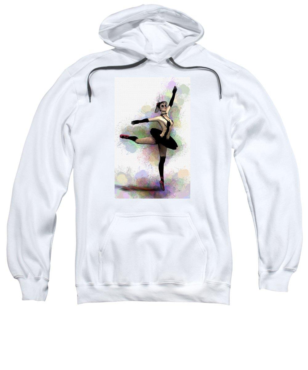 Ballerina Sweatshirt featuring the painting Dark Ballerina by Quim Abella