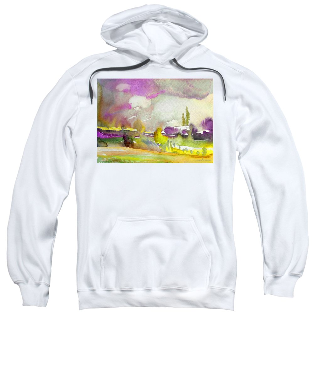 Watercolour Sweatshirt featuring the painting Dawn 03 by Miki De Goodaboom