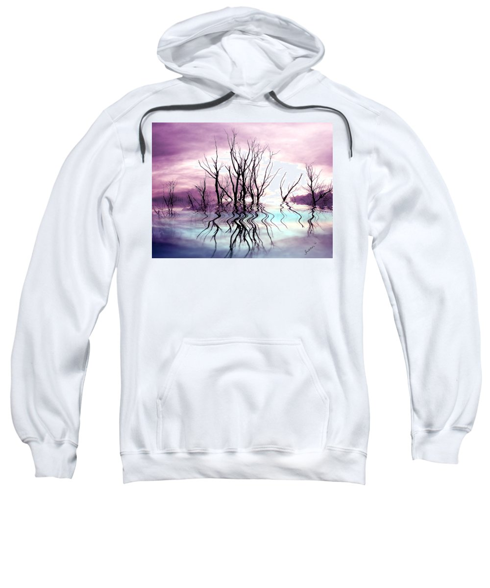 Photo Artwork Sweatshirt featuring the photograph Dead Trees Colored Version by Susan Kinney