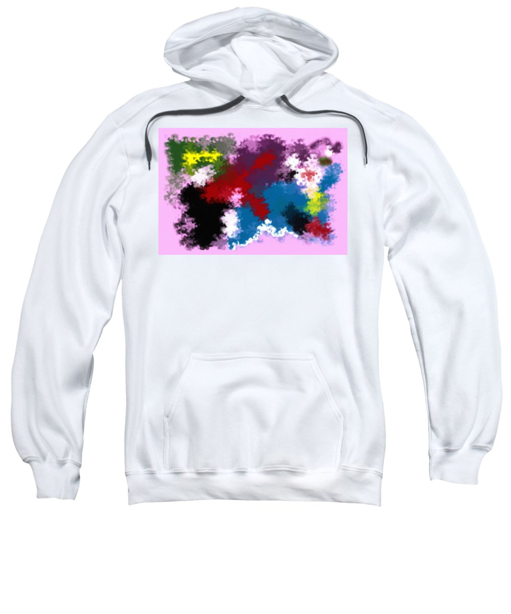 Abstract Sweatshirt featuring the digital art Death Of Discrimination by Donna Blackhall