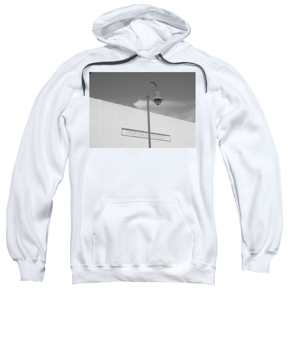 Black And White Sweatshirt featuring the photograph Deerfield Florida by Rob Hans