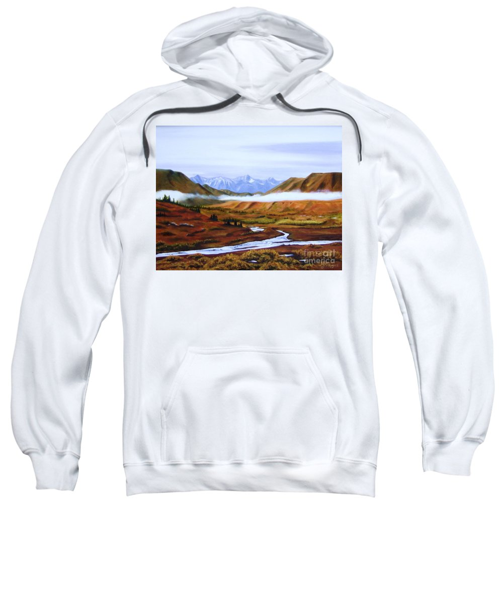 Art Sweatshirt featuring the painting Denali Autumn by Mary Rogers
