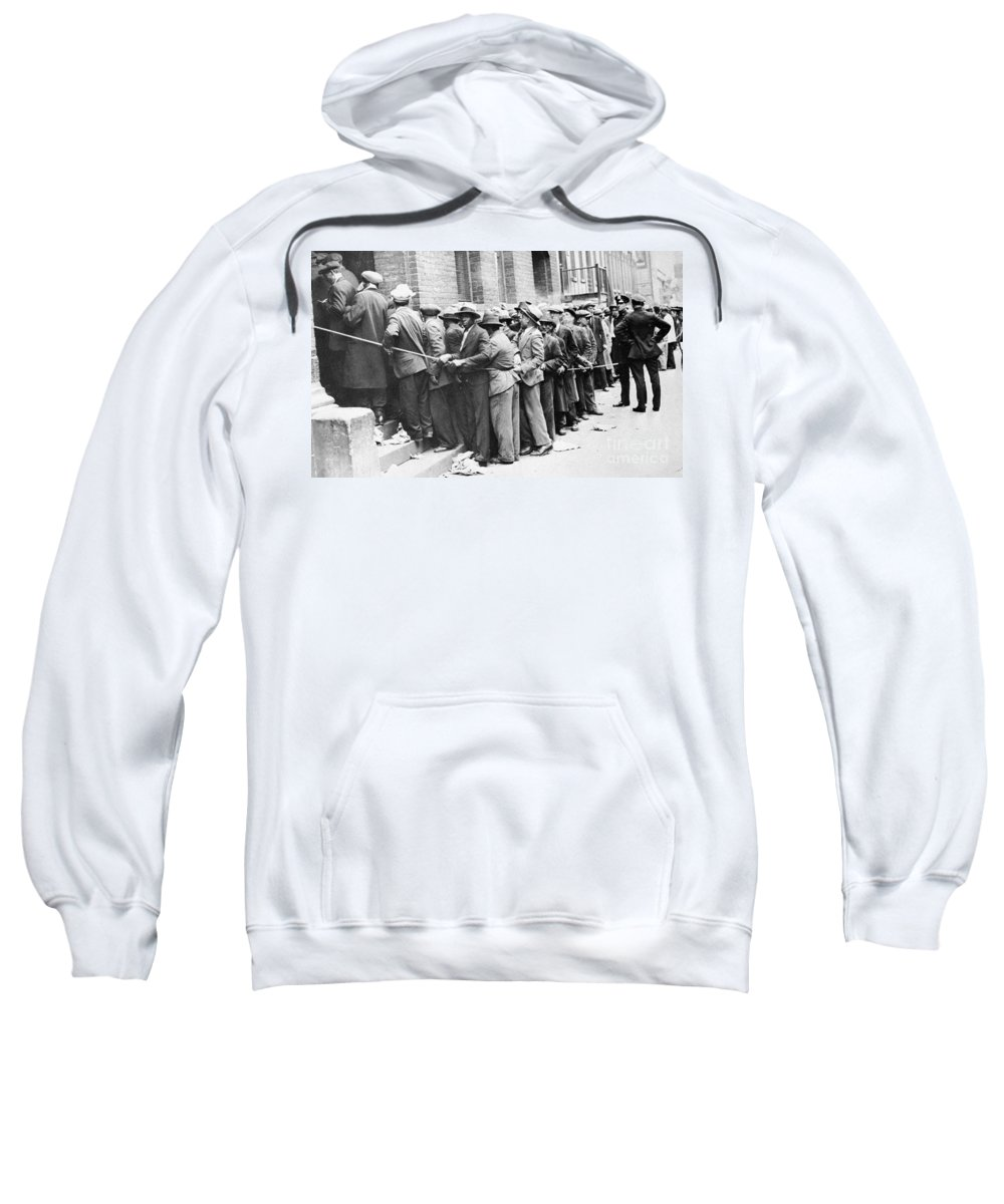 1931 Sweatshirt featuring the photograph Depression: Harlem, 1931 by Granger