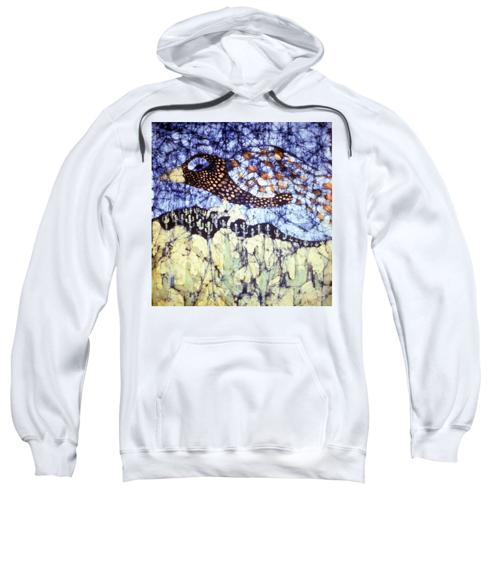 Desert Sweatshirt featuring the tapestry - textile Desert Crow by Carol Law Conklin