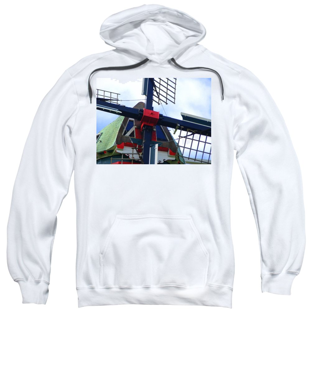 Dezwaan Sweatshirt featuring the photograph Dezwaan Windmill Holland Michigan by Michelle Calkins