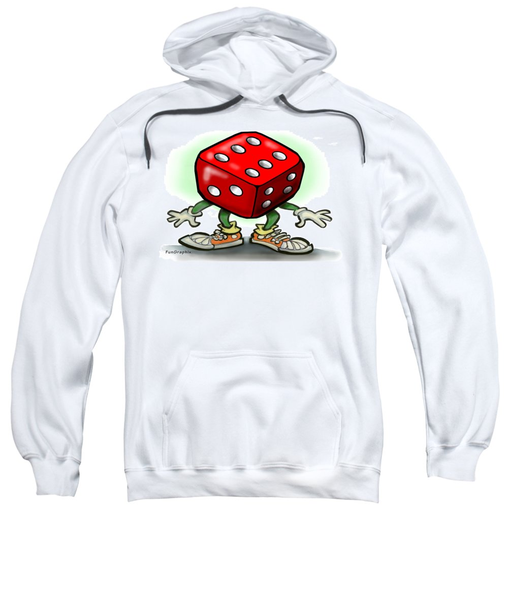 Dice Sweatshirt featuring the greeting card Dice by Kevin Middleton