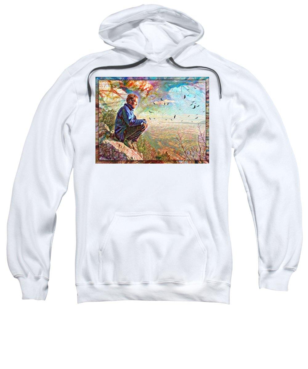 Landscape Sweatshirt featuring the photograph Die Slowly - Lentamente Muore by Leonard Rubins