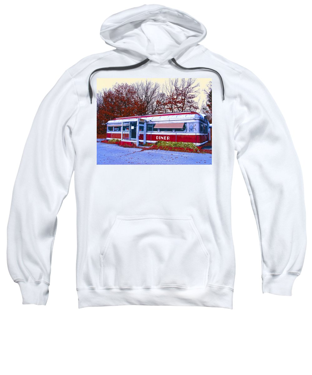 Diner Sweatshirt featuring the mixed media Diner by Dominic Piperata