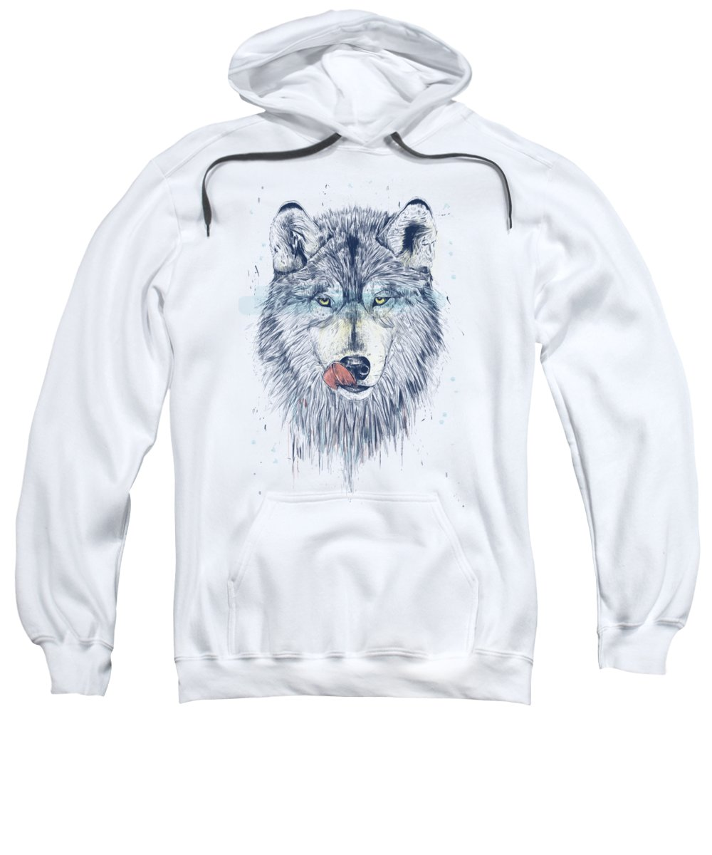 Animal Sweatshirt featuring the drawing Dinner time by Balazs Solti