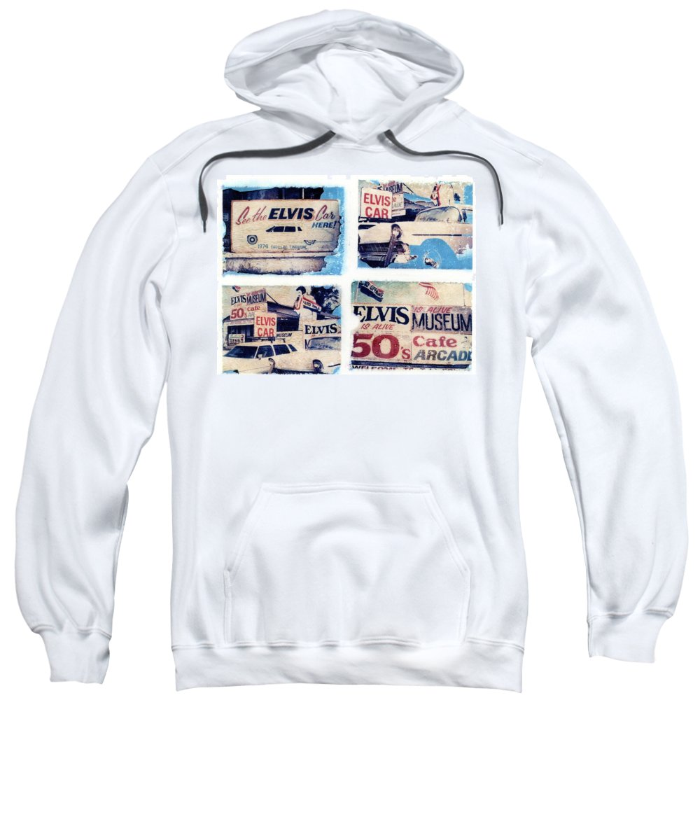 Elvis Sweatshirt featuring the photograph Disgraceland by Jane Linders