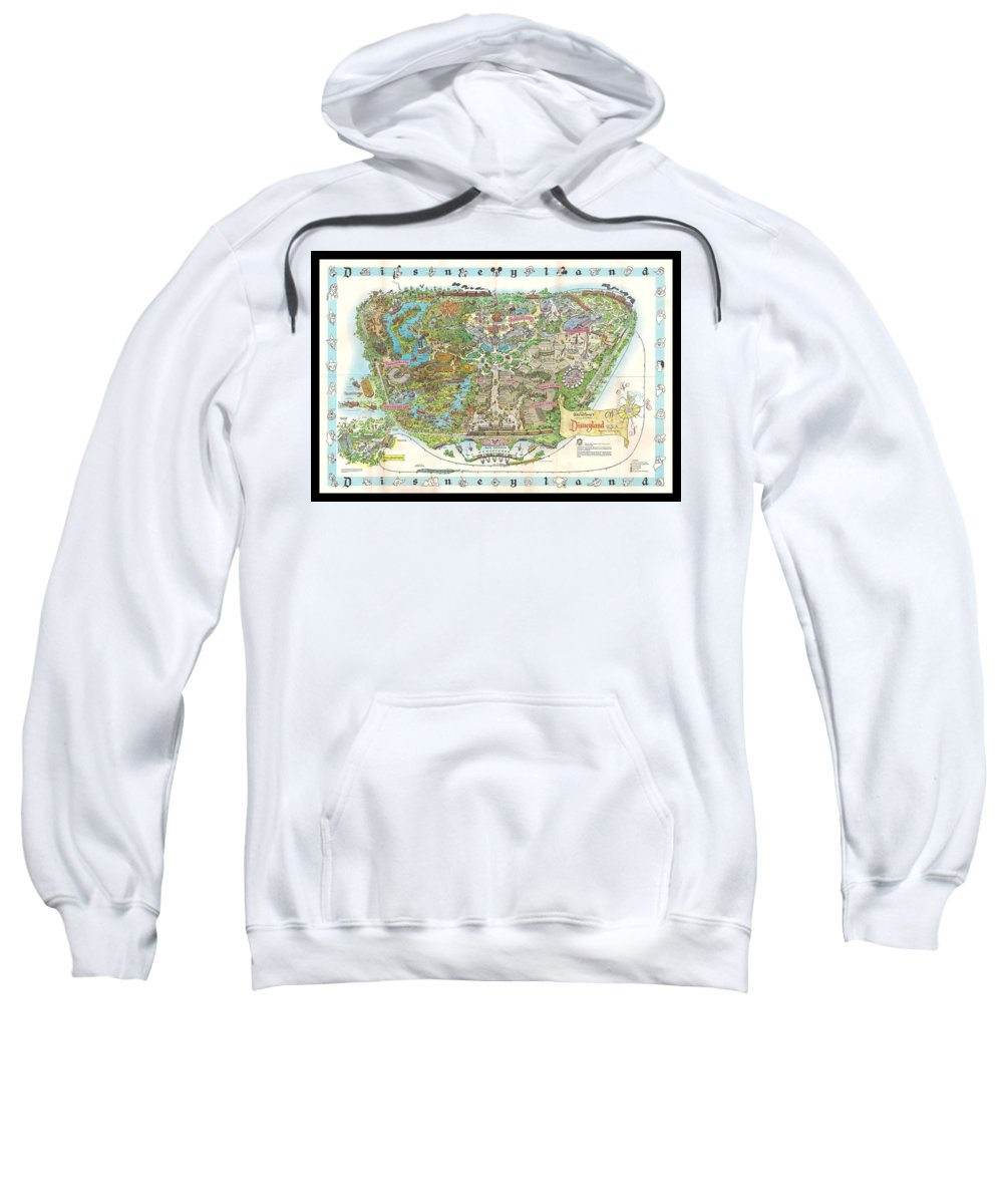 1962 Sweatshirt featuring the photograph Disneyland Of Old by Tommy Anderson