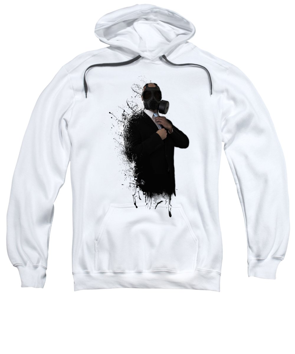 Gas Sweatshirt featuring the photograph Dissolution Of Man by Nicklas Gustafsson