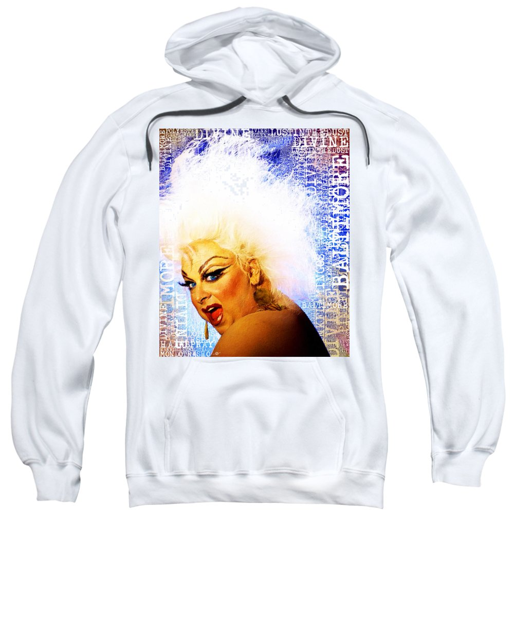 Divine Sweatshirt featuring the painting Divine 2 by Tony Rubino