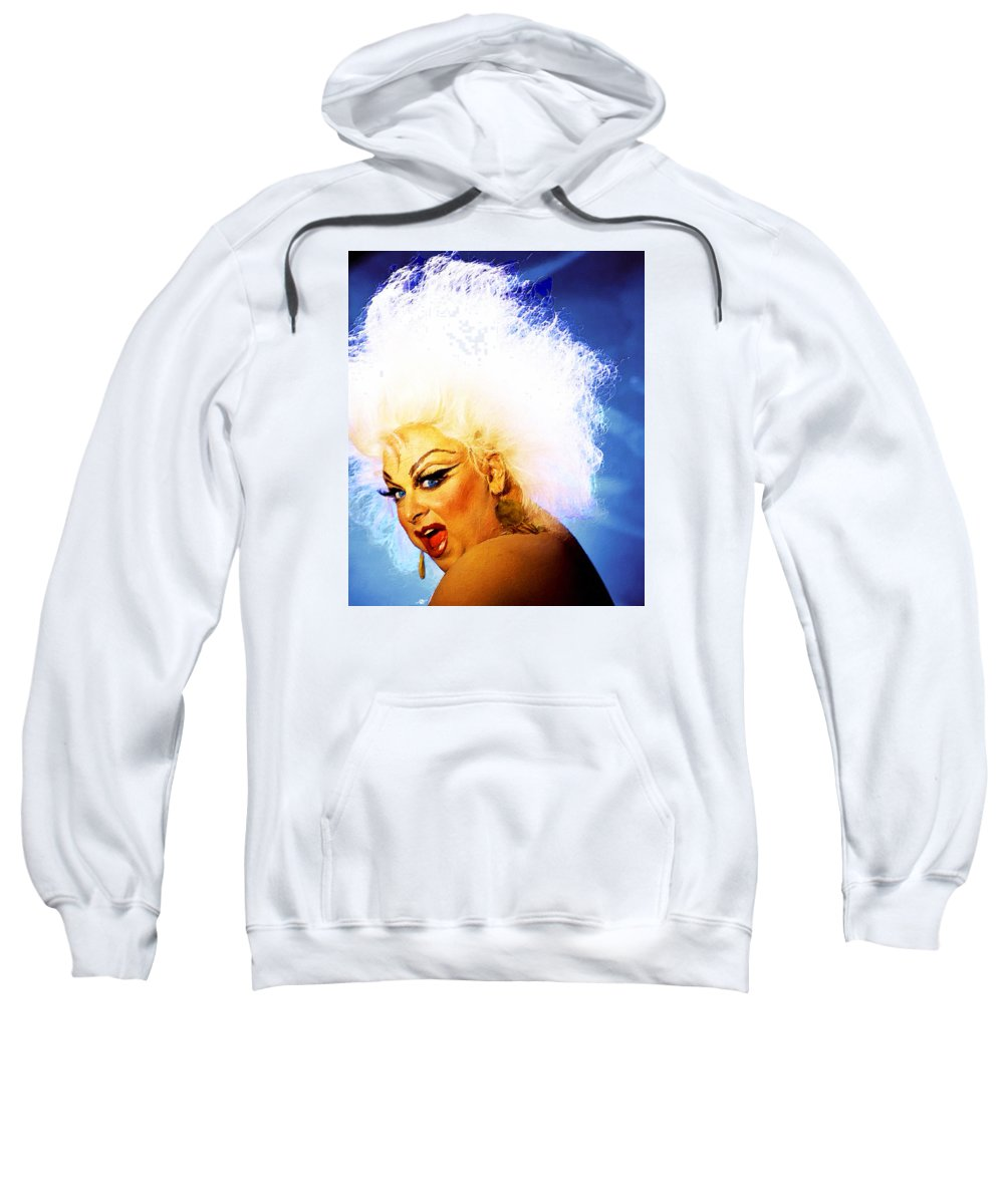 Divine Sweatshirt featuring the painting Divine 3 by Tony Rubino