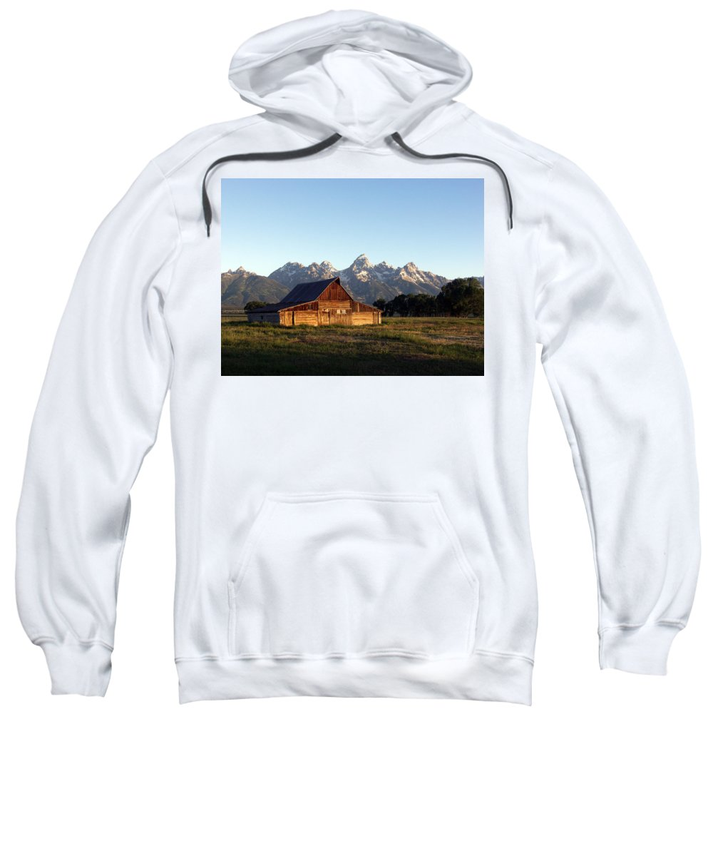 Landscape Yellowstone Grand Tetons Cabin Sweatshirt featuring the photograph Dnrd0104 by Henry Butz