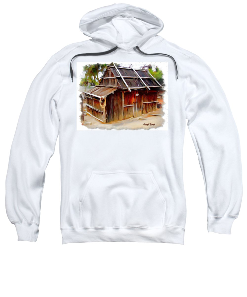 Cottage Sweatshirt featuring the photograph Do-00129 Old Cottage by Digital Oil
