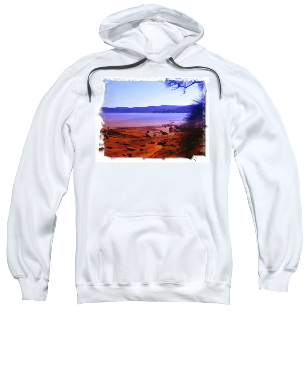 Gosford Sweatshirt featuring the photograph Do-00134 Gosford Waterfront by Digital Oil