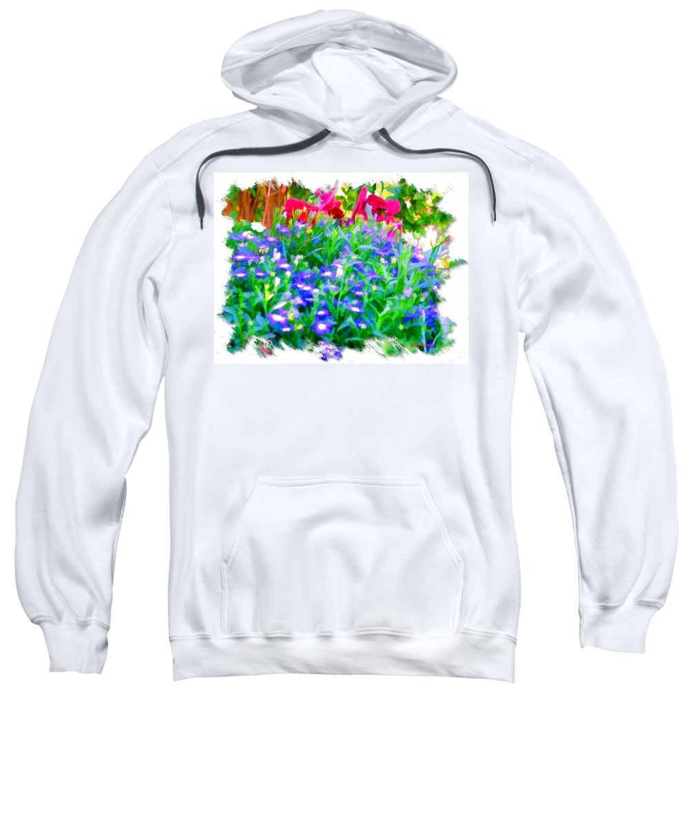 Flowers Sweatshirt featuring the photograph Do-00221 Flowers by Digital Oil