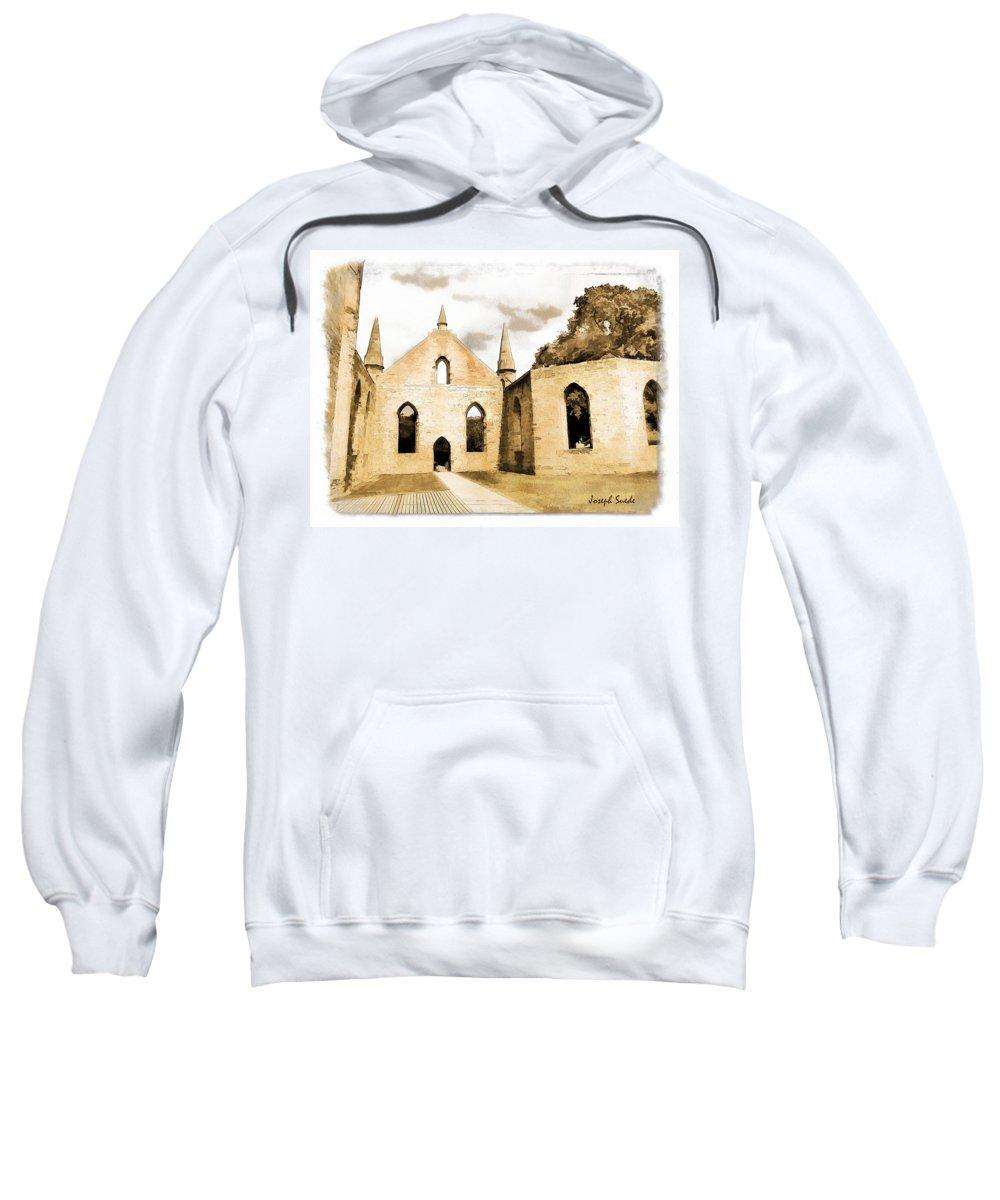 Church Sweatshirt featuring the photograph Do-00248 Church At Port Arthur by Digital Oil