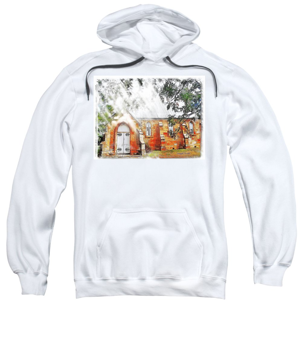Ghostly Effect Sweatshirt featuring the photograph Do-00264 Ghostly Look Of St John Church by Digital Oil