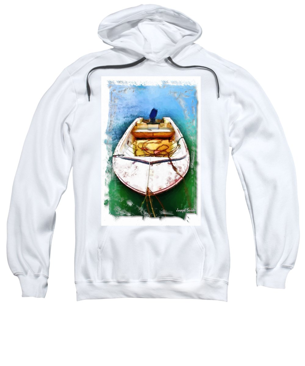 Boat Sweatshirt featuring the photograph Do-00277 Boat In Hardys Bay by Digital Oil