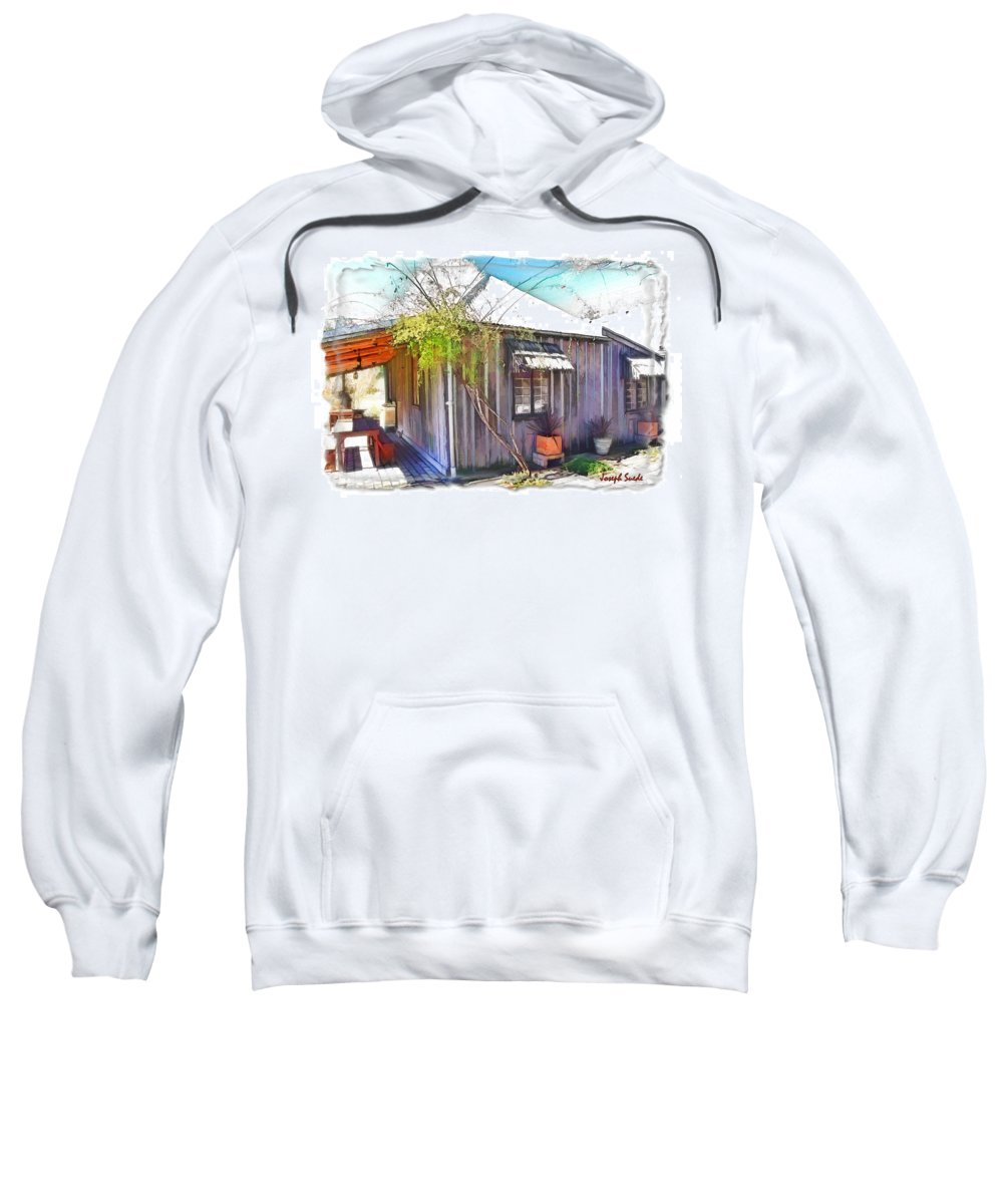 Restaurant Sweatshirt featuring the photograph Do-00290 A Restaurant In Polkobin by Digital Oil