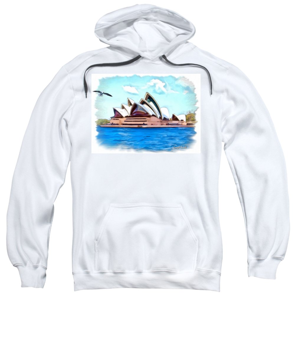 Sydney Opera House Sweatshirt featuring the photograph Do-00293 Sydney Opera House by Digital Oil