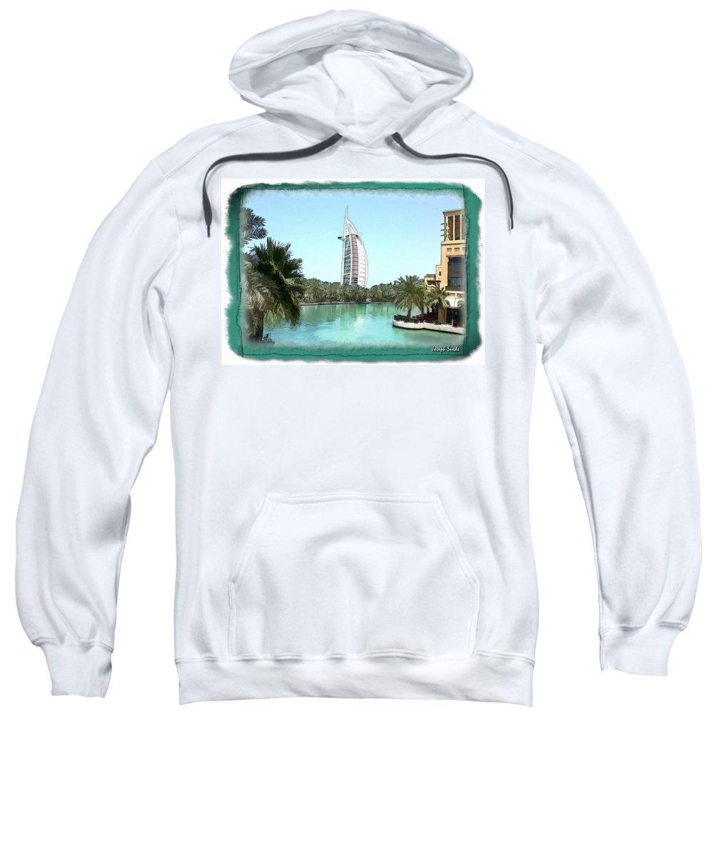 Burj Al-arab Sweatshirt featuring the photograph Do-00464 View Of Burj Al-arab by Digital Oil