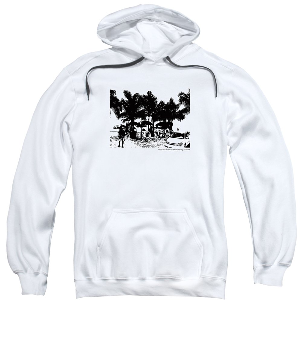 Beach Sweatshirt featuring the photograph Doc's Beach House by Laurie Paci
