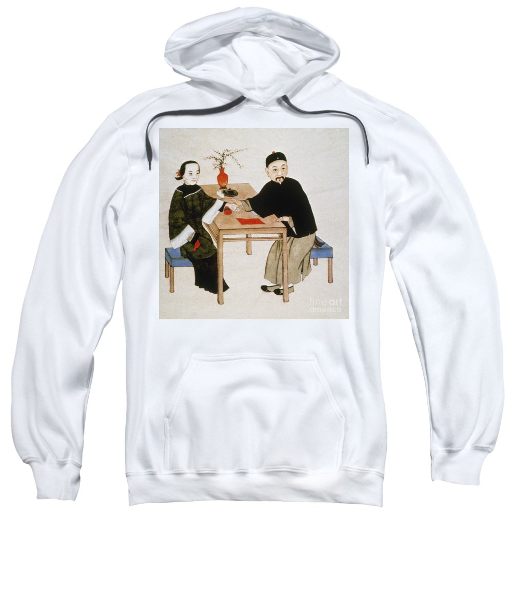 Alternative Sweatshirt featuring the photograph Doctor Taking Pulse by Granger
