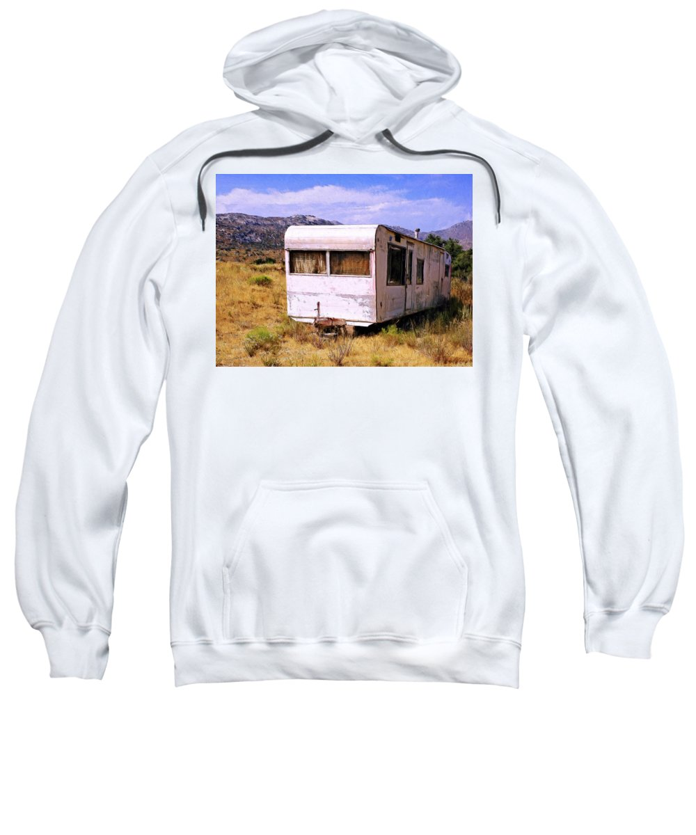 Dogpatch Sweatshirt featuring the painting Dogpatch Trailer by Dominic Piperata