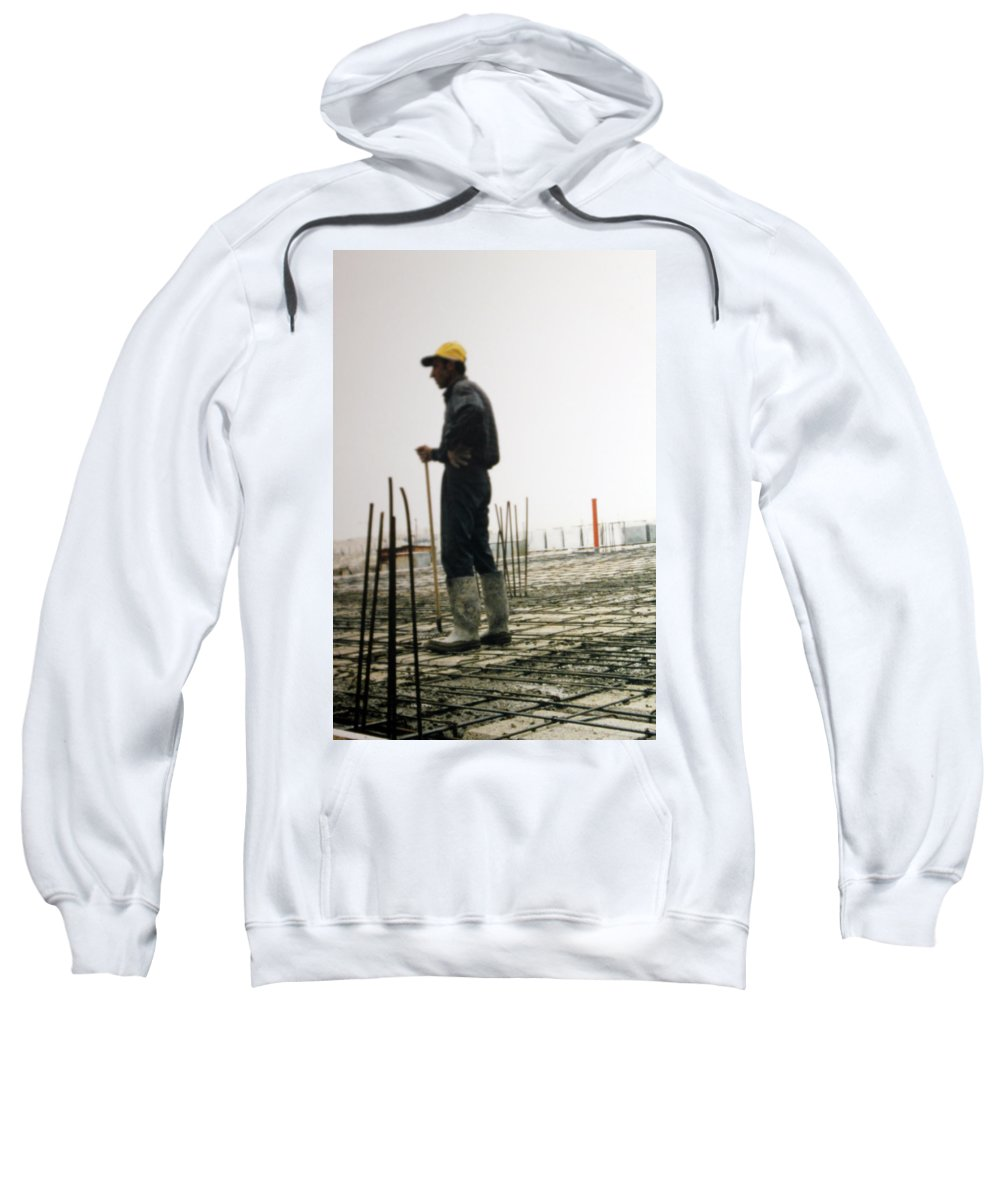 Man Sweatshirt featuring the photograph Doing The Calculations by Munir Alawi