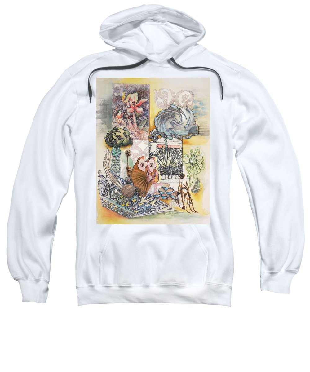 Abstract Sweatshirt featuring the painting Don't Artichoke by Valerie Meotti
