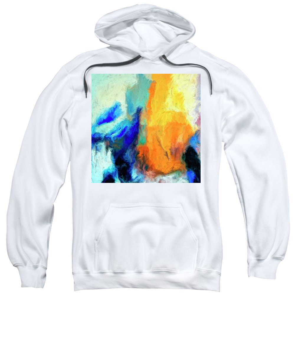 Don't Look Down Sweatshirt featuring the painting Don't Look Down by Dominic Piperata