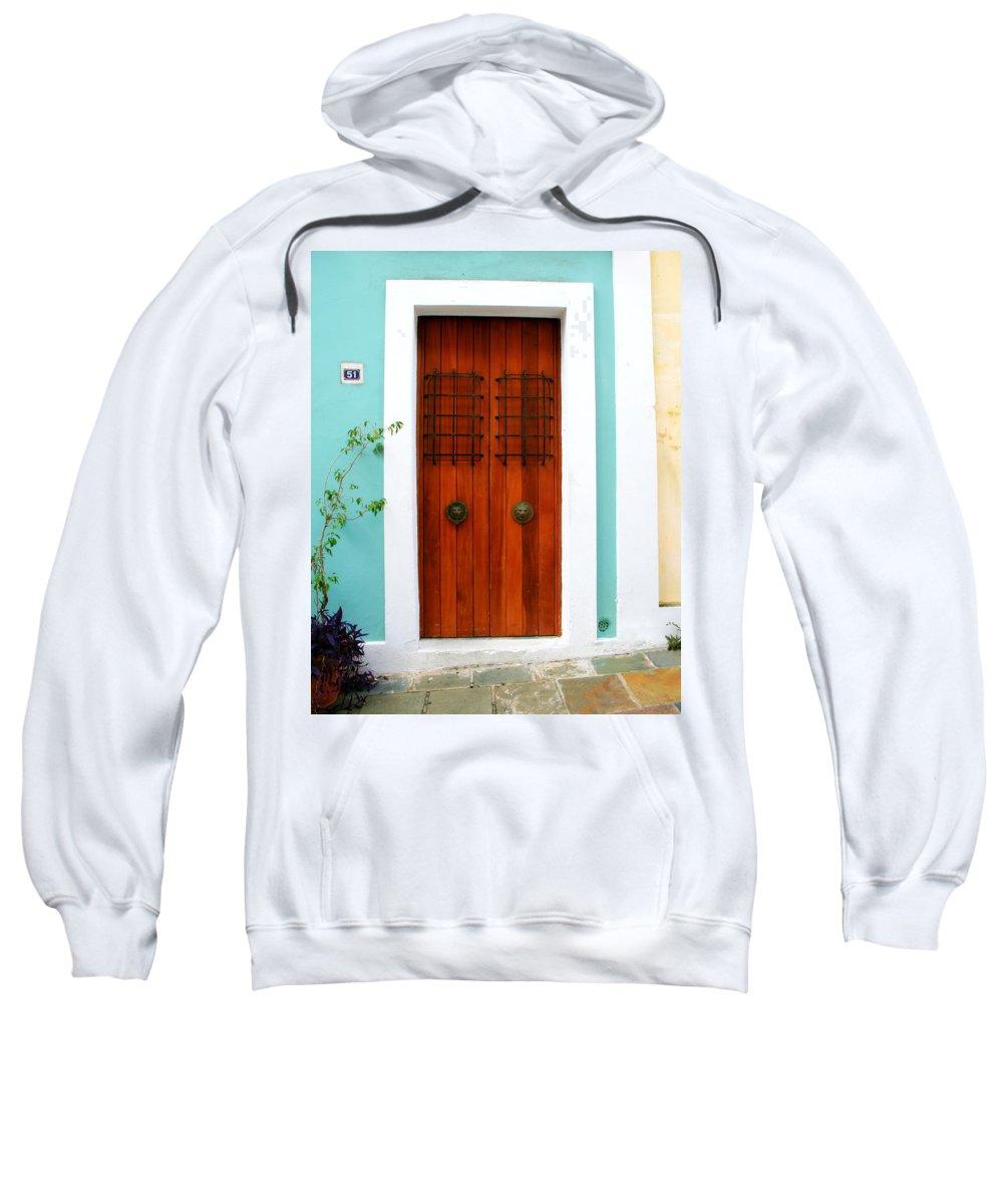 Door Sweatshirt featuring the photograph Door 51 by Perry Webster