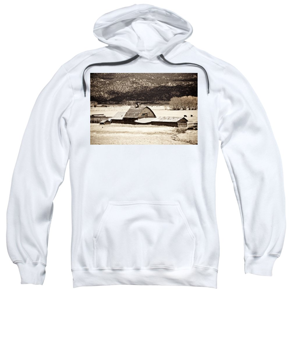 Americana Sweatshirt featuring the photograph Down On The Farm by Marilyn Hunt