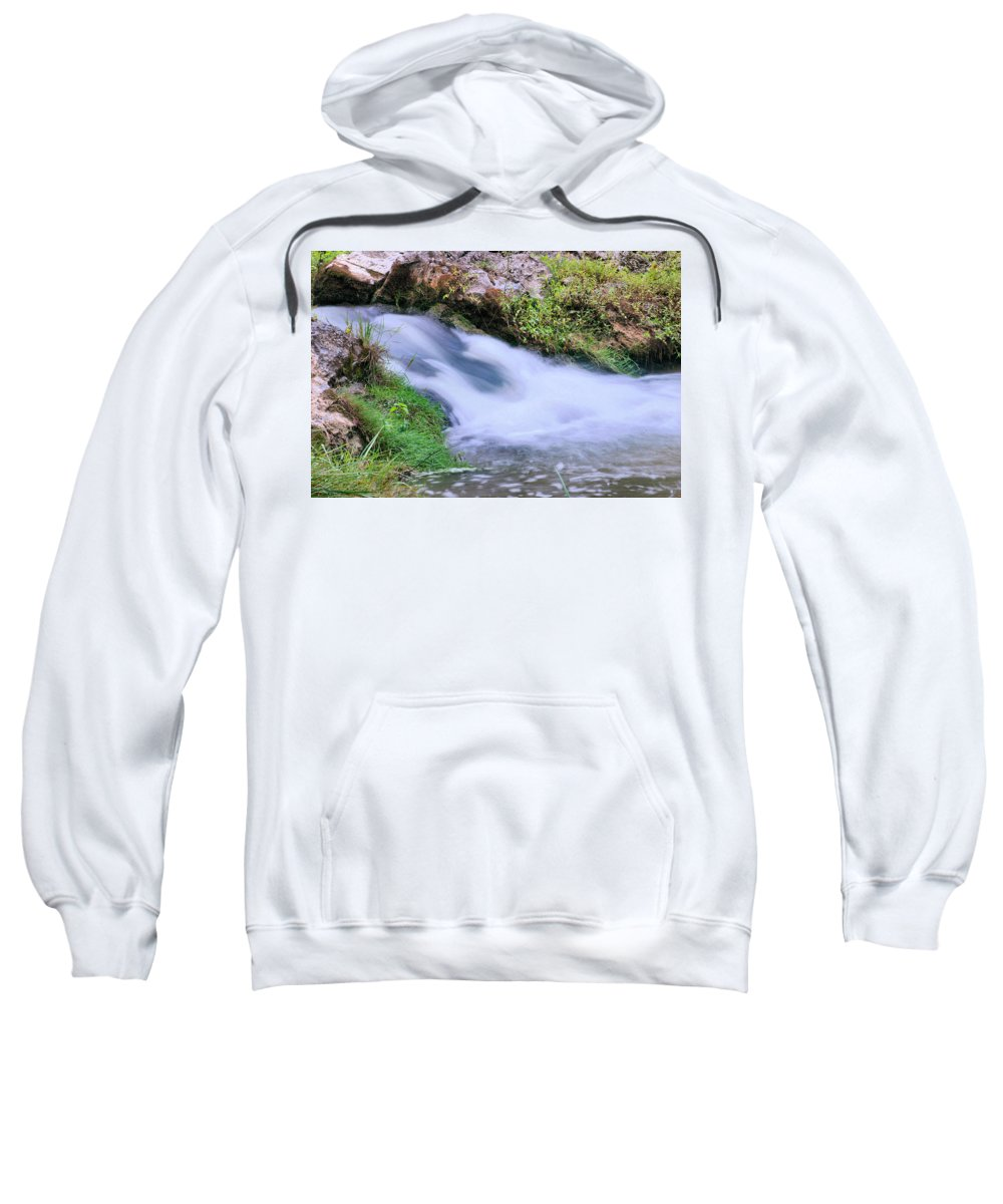 Waterfall Sweatshirt featuring the photograph Downstream by Kristin Elmquist
