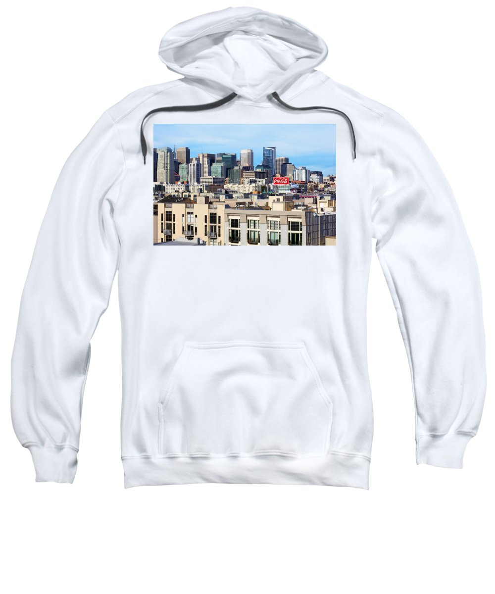 San Francisco Sweatshirt featuring the photograph Downtown San Francisco by Kelley King