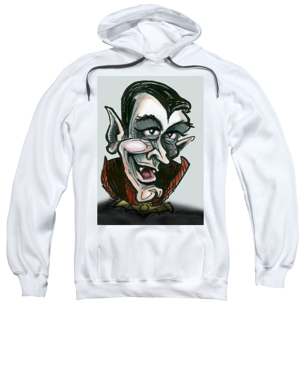 Dracula Sweatshirt featuring the greeting card Dracula by Kevin Middleton
