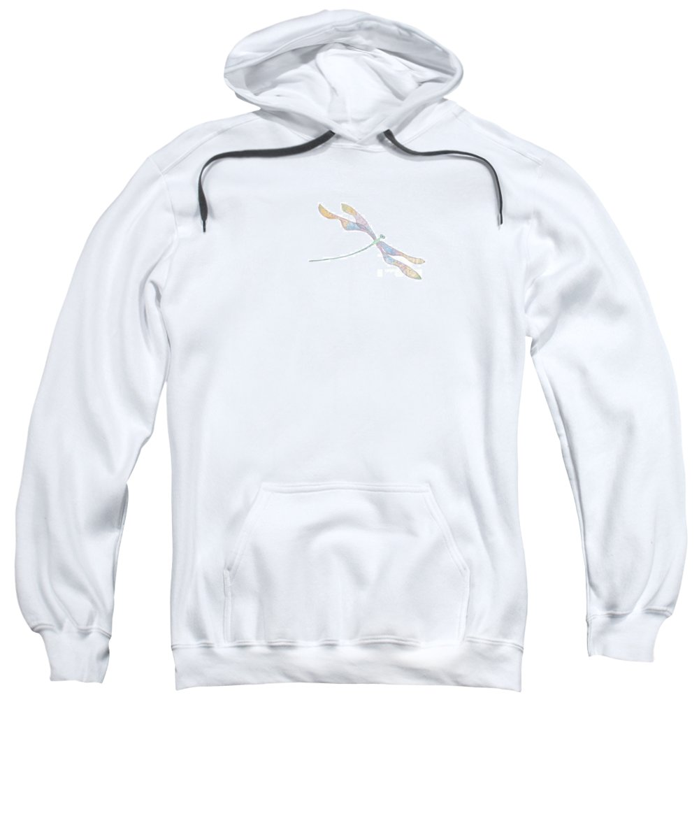 Dragonfly Sweatshirt featuring the digital art Dragonfly by Heather Hennick