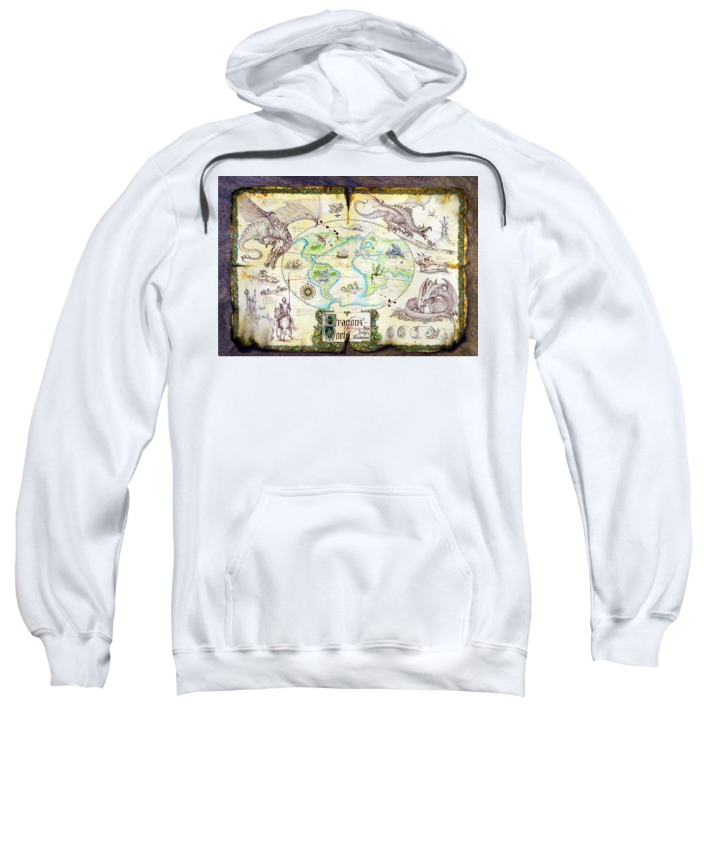 Dragon Sweatshirt featuring the photograph Dragons Of The World by The Dragon Chronicles - Garry Wa