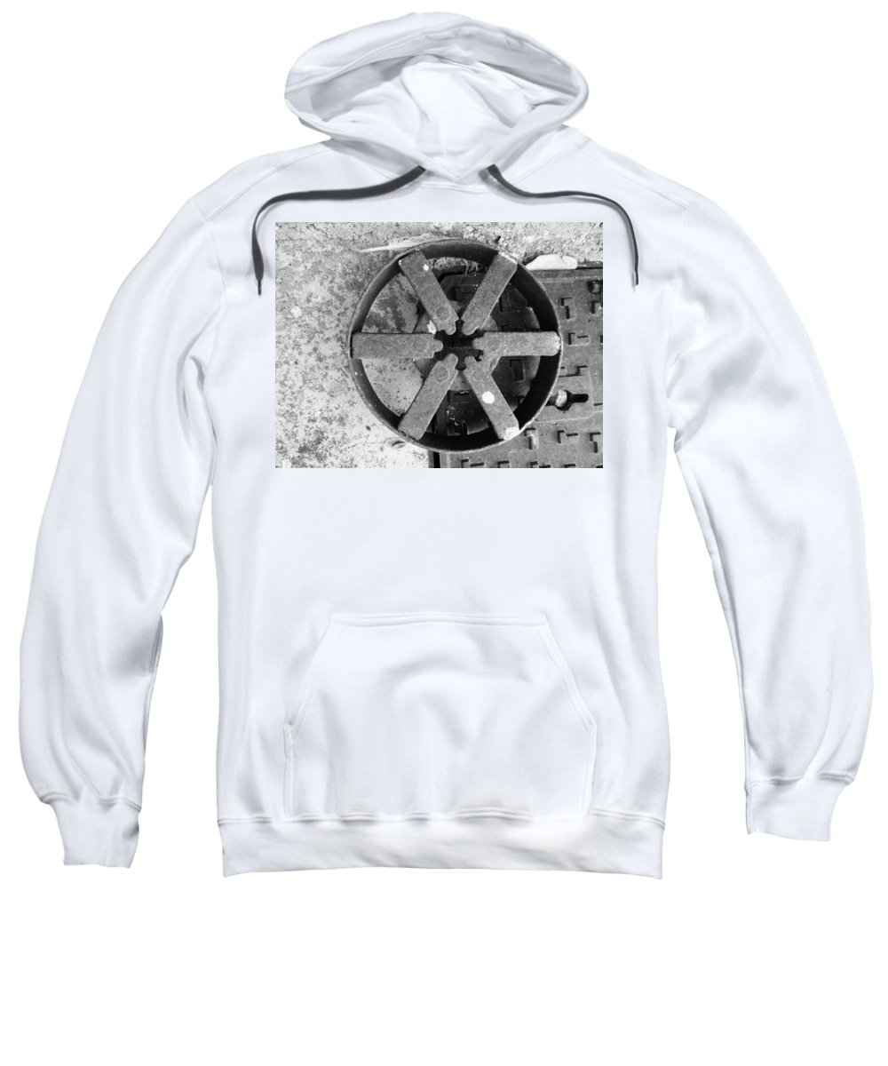 Photograph Sweatshirt featuring the photograph Drain by Modern Art