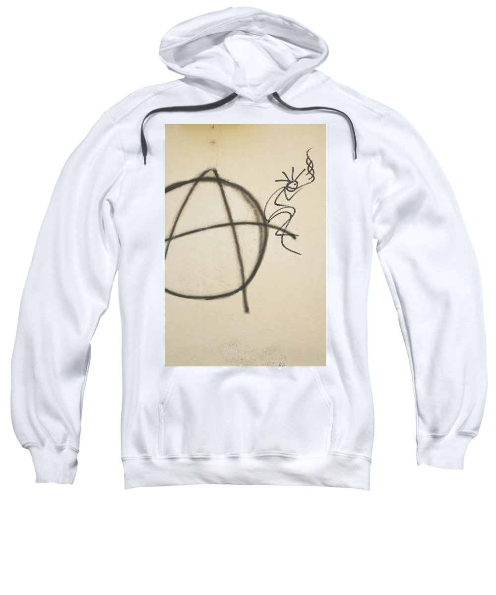Drawing Sweatshirt featuring the photograph Drawing On A Wall by Stefania Levi