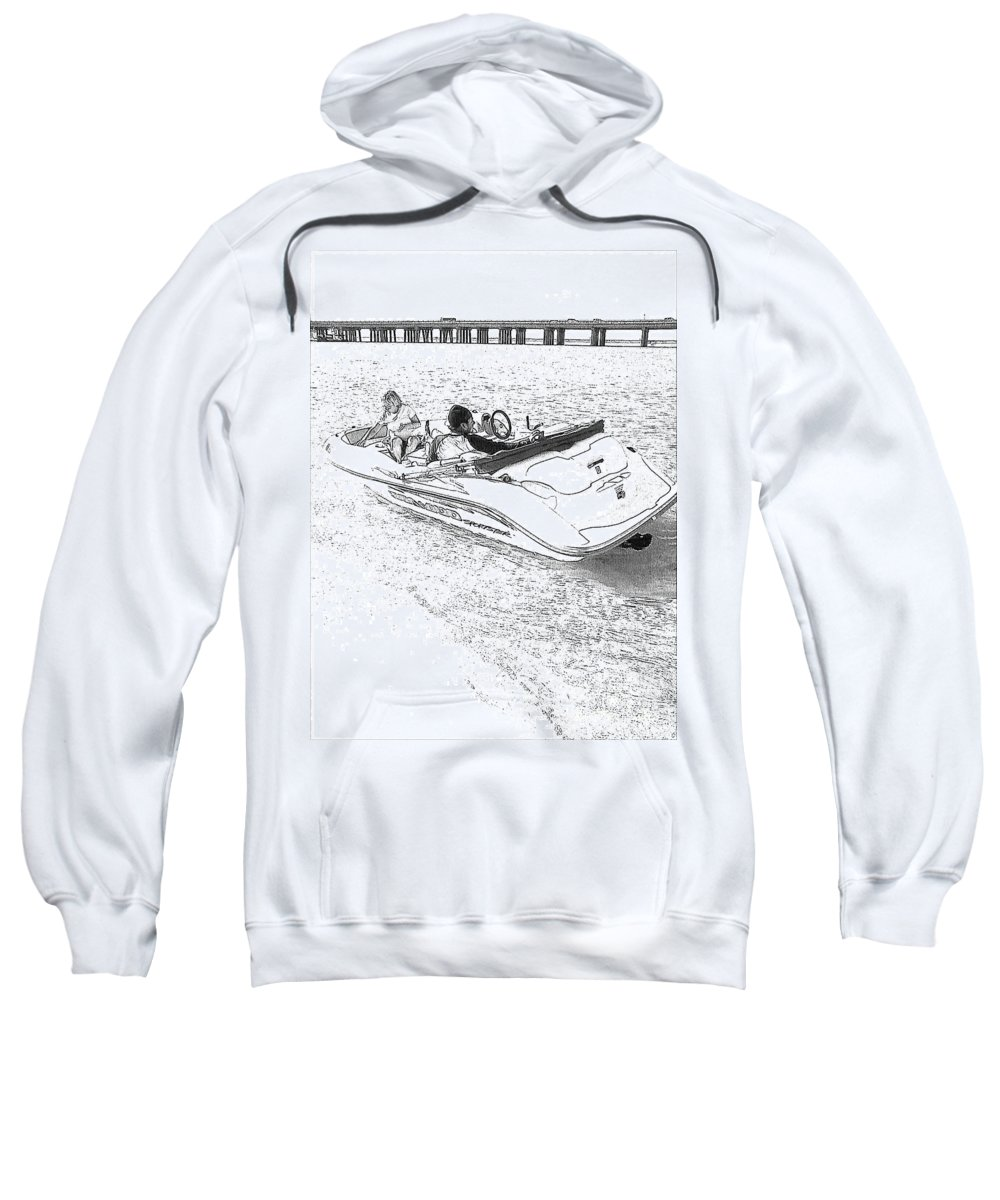 Boat Sweatshirt featuring the photograph Drawing The Boat by Michelle Powell