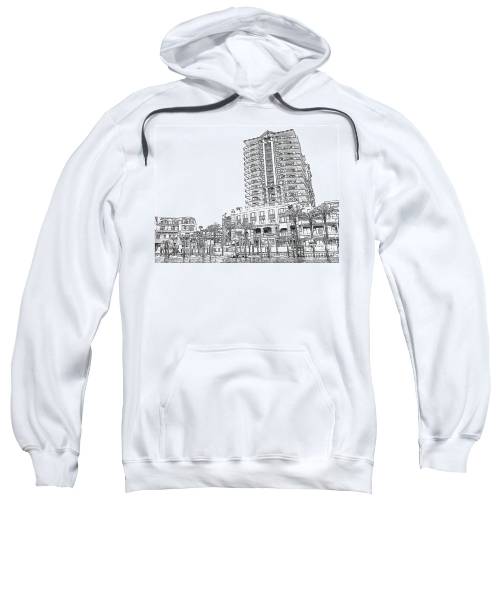 Drawing Sweatshirt featuring the photograph Drawing The Building by Michelle Powell
