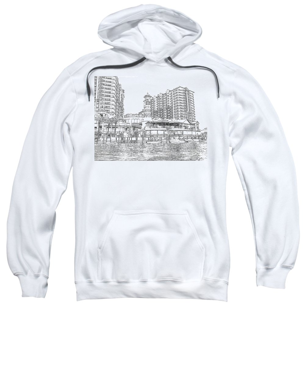 Drawing Sweatshirt featuring the photograph Drawing The Harbor by Michelle Powell
