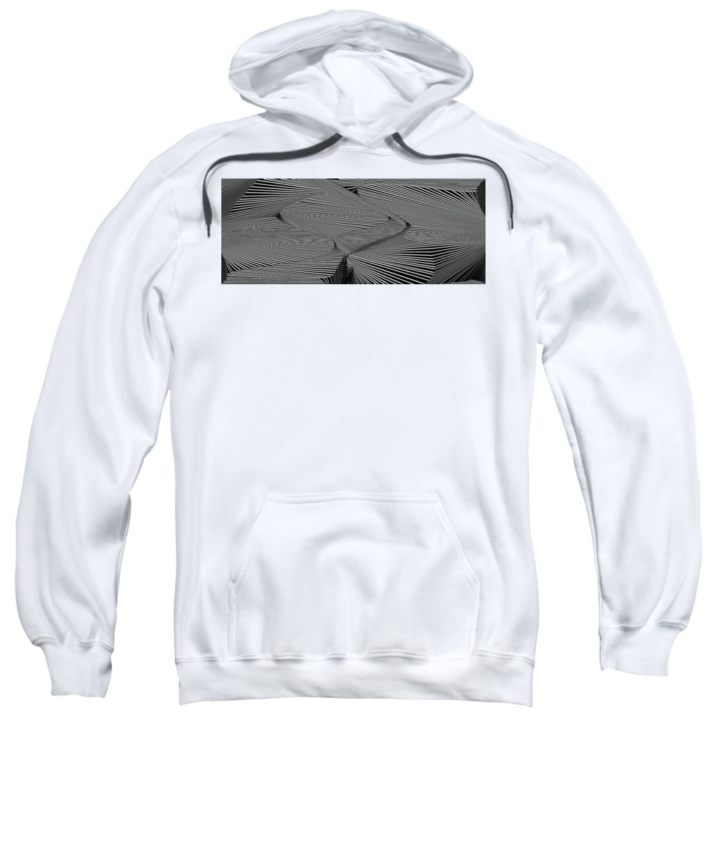 Dynamic Black And White Sweatshirt featuring the painting Drawnoylevarb by Douglas Christian Larsen