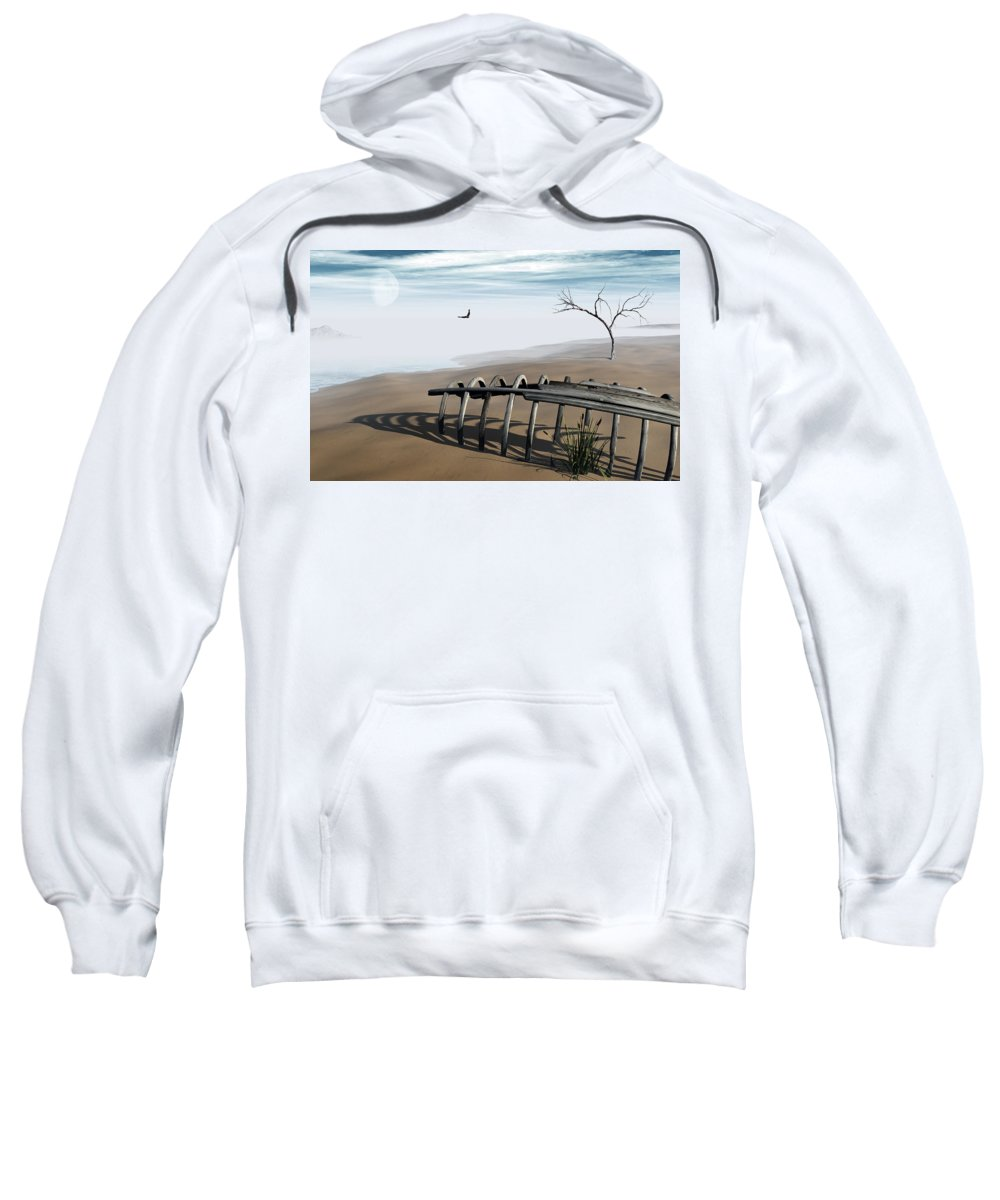 Surreal Sweatshirt featuring the digital art Dream Lake by Richard Rizzo