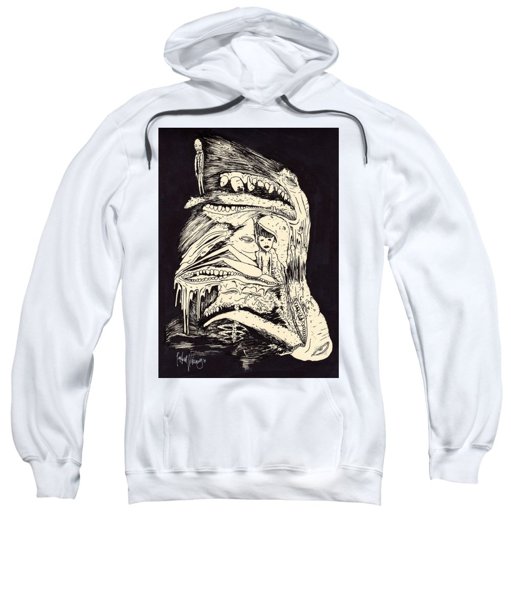Drawing Sweatshirt featuring the drawing Dream Watching by Parker Winans